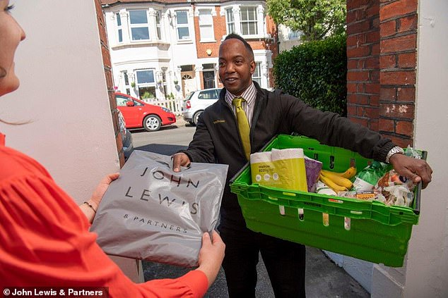 Door to door: John Lewis shoppers can return online orders to their Waitrose delivery driver