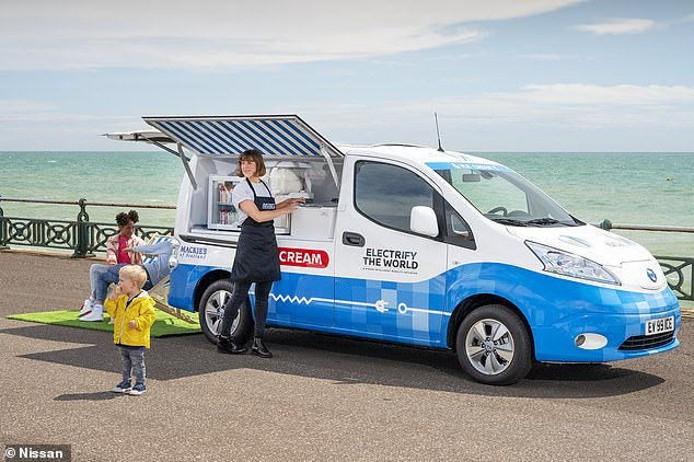 Mr Whipp-E: This is Britain's first electric ice cream van that produces zero exhaust emissions