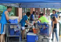 It was all hands on deck for Kylee's Kare Kits for Kidz annual donation drive outside Market Basket in Leominster on Friday