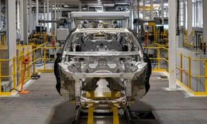 Aston Martin's new DBX being built