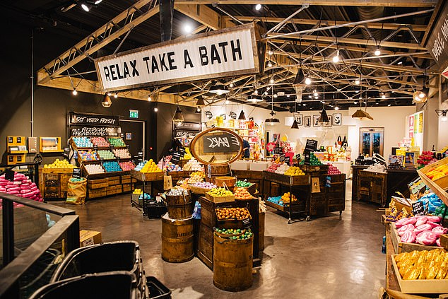 Lush, unlike many of its rivals, ensures its products are always available to touch and sniff
