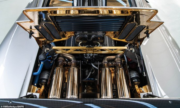 Its party piece is the gold-lined engine bay. The precious metal helps to dissipate the generated by the ferocious 6.1-litre engine
