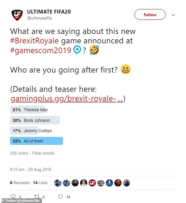 Matching Britain's divorce from the EU, Brexit Royale is slated for launch on the PS4 and Xbox One on October 31st, 2019 ¿ with a full gameplay trailer planned for release on September 3