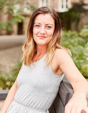 But she was was plagued by a seemingly endless and inexplicable array of symptoms as a result - from crushing fatigue to skin problems, hair loss and debilitating pain throughout her body (pictured, now, after the implants were taken out)