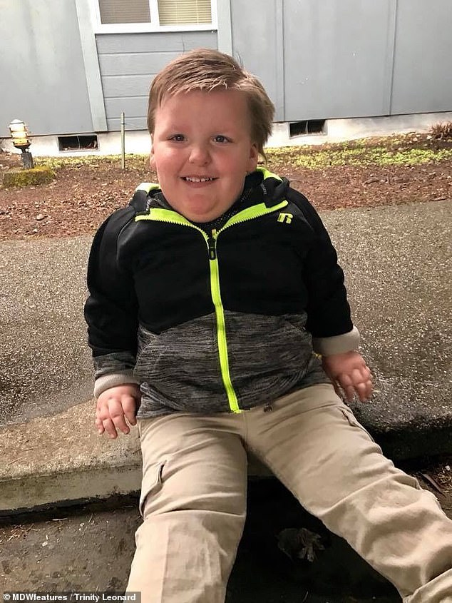 Children with Prader-Willi syndrome, according to the NHS, can eat six times as much as a normal child and still be hungry. Peter's parents have to hide all the food in the house so he can't eat more than they give him
