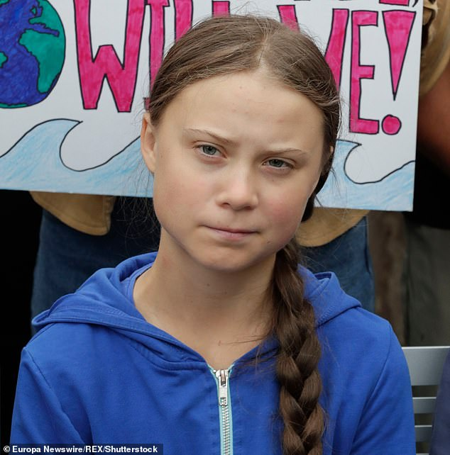 Petteri Taalas, the secretary-general of the World Meteorological Organization (WMO) believes using words like 'scared' could make young people depressed and anxious and hinder the environmental effort. Greta Thunberg (pictured) is leading a revolution to combat climate change