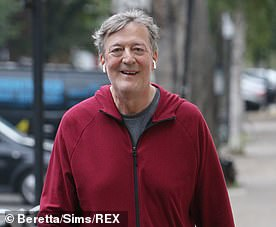 Stephen Fry, 61, is now cancer-free
