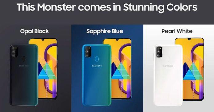 Samsung Galaxy M30s Color Variants