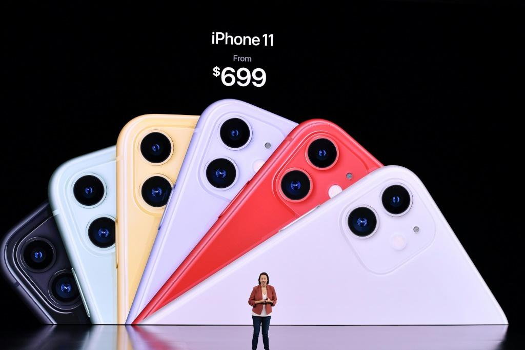 Apple Senior Director of Product Marketing Kaiann Drance speaks onstage about the iPhone 11's cameras during a product launch event at Apple's headquarters in Cupertino, California