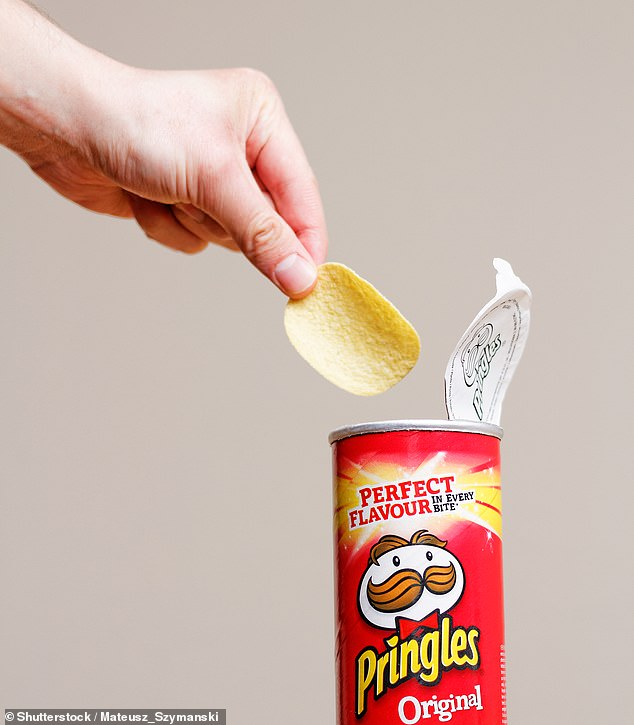 A 17-year-old boy who lived on a diet of chips, Pringles, bread and sausages has gone blind due to vitamin deficiency (stock image)