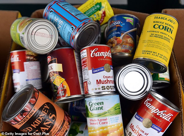 Britons are stocking up on tinned food and dried goodsin preparation for Brexit amid fears of shortages