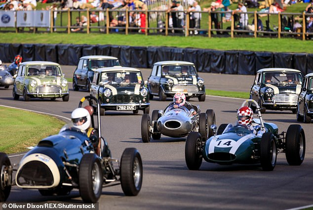Race days, like September'sCooper Car Company event, attract thousands of visitors to the Goodwood estate