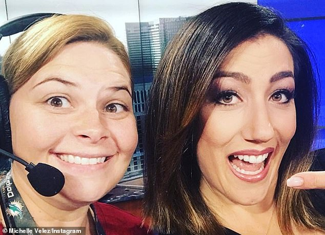 As a public figure, Velez has spoken out about her rare conditions and says many women have reached out to her saying her story made them feel less alone - but she says it's their stories and strength are helping her carry on (Pictured with friend and colleague, Karina Howe, right)