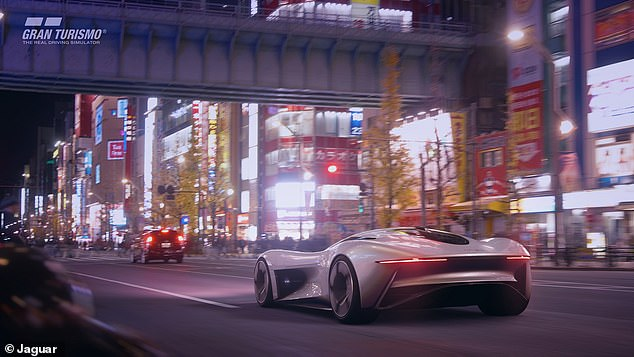 The Jaguar Vision Gran Turismo Coupé (pictured above) will be able to accelerate from 0 to 60 mph in less than two seconds