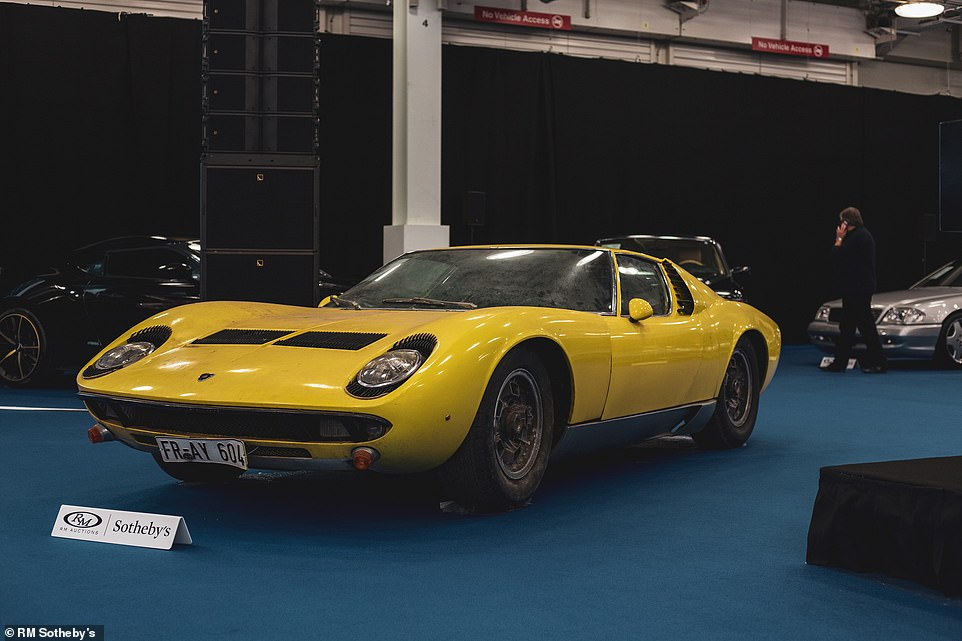 Even when on display ahead of the collectible car auction, RM Sotheby's left the car in the condition it was found - including a film of dust and grime on its bodywork