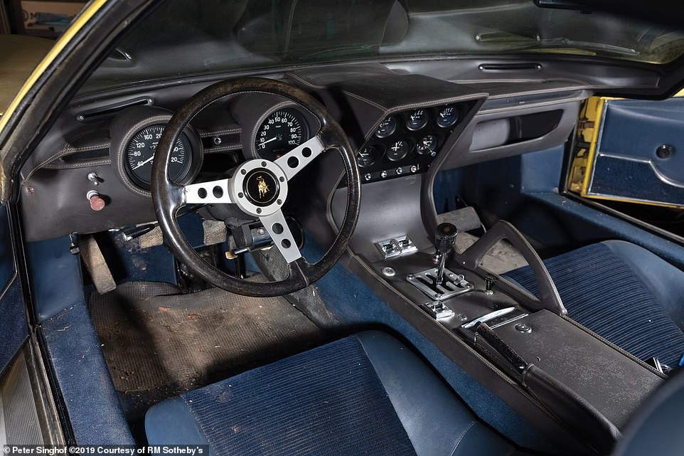The car could do with a good clean inside but shows few signs of wear and tear and remains totally original