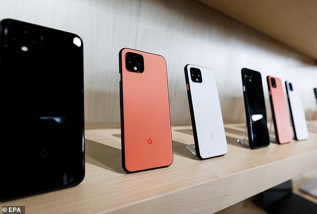 Google's Pixel 4 (pictured above) was unveiled in an event in New York City this month but has already run into trouble as skeptical users express concern over its facial recognition software