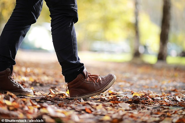 People who walk slowly at age 45 are at greater risk for showing early signs of dementia, according to new research from Duke University (file)