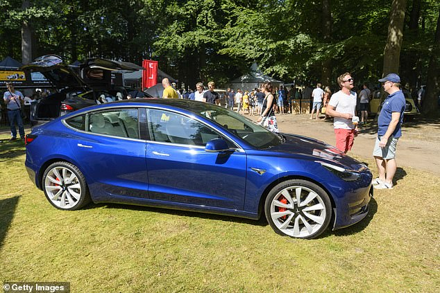 Winner: The Tesla Model 3 was named the best car in four categories at the Parkers Awards, including the Best New Car of the Year