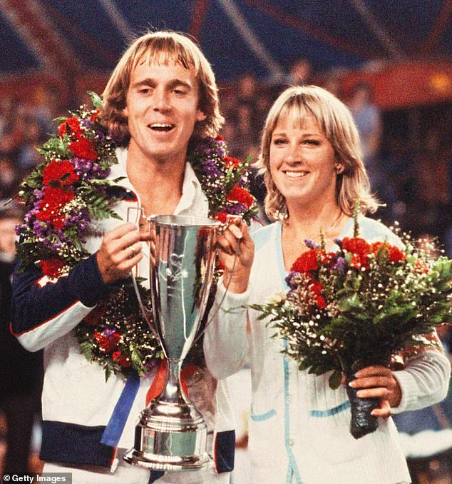 Bonanza: John Lloyd and Chris Evert at their 'love doubles' in 1980