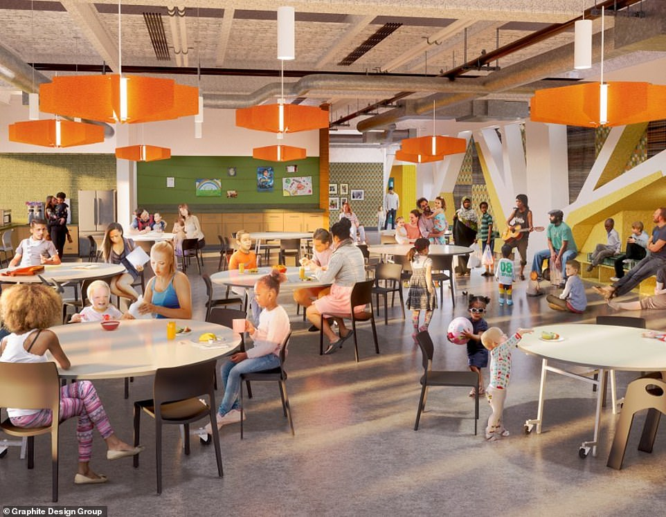 The shelter will provide a cafeteria style dinning area for families to eat together and also spend time with other families living in the shelter. However, Amazon has been accused of gentrification and contributing to the city's homelessness problem by expanding in Seattle and driving up housing costs