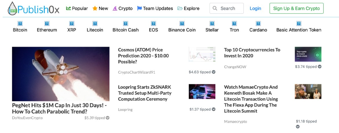 2 New Blog Sites That Allow Users to Earn Cryptocurrencies