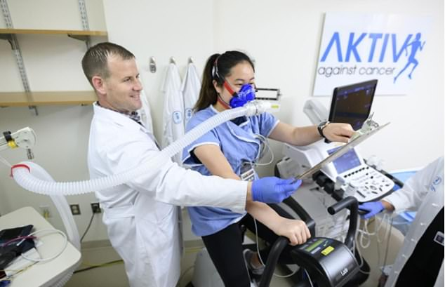 Scientists from the Memorial Sloan Kettering Cancer Centre in New York are trialling the effects of this exercise on chemo patients. Here, they demonstrate how patients will be provided with in-home treadmills and video call software
