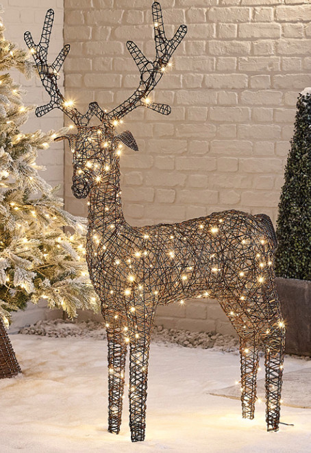 There's no need to splash out £129 on this light-up reindeer from whitestories.co.uk...