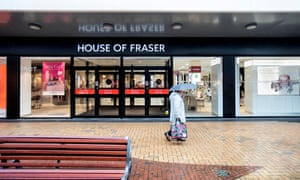 The House of Fraser store at the Gracechurch Centre.