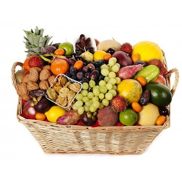 Those interested in all things fruity can purchase this festive fruit basket which is available for £85 from gogofruitbasket.co,uk