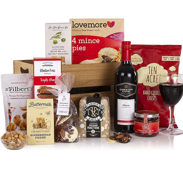 This gluten and wheat free hamper from appleyardflowers.com costs £60 and is suitable for those with coeliac disease