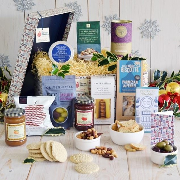 This diabetic hamper, which costs £77.97 from yumbles.com, is brimming with low-sugar treats including Christmas pudding