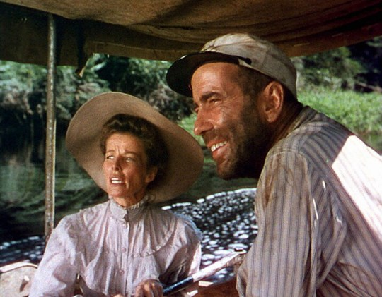Editorial use only Mandatory Credit: Photo by Romulus Films/Park Circus/REX (8616520he) 'The African Queen' Films Katharine Hepburn and Humphrey Bogart Butcher's Film Service