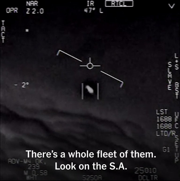 Navy Pilots Were Seeing UFOs on an Almost Daily Basis in 2014 and 2015. Infrared cockpit-camera footage taken on a later sortie by the same U.S. Navy squadron reveals another immensely fastflying object, this one spinning in mid-air and moving against a 120-knot wind, again accompanied by commentary from totally baffled airmen. Although the footage shows only one of these objects, a pilot is heard to say: ?There?s a whole fleet? showing up on his monitors. And as the one in the film turns slowly in the air, a shocked voice chimes in: ?Look at that thing! It?s rotating!? Between the summer of 2014 and March 2015, it?s now emerged, these unexplained objects were spotted almost every day over the skies off the U.S. East Coast.