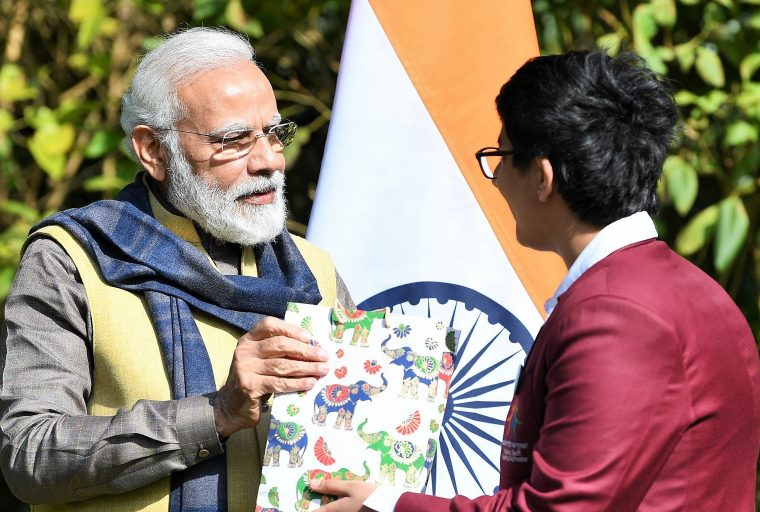 Indian Prime Minister Modi Awards Young Entrepreneur for Cryptocurrency App