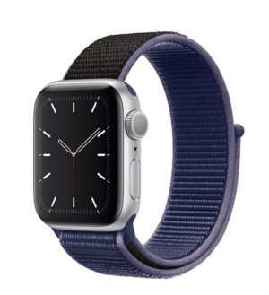 Apple Watch Series 5 with Midnight Blue Sport Loop band
