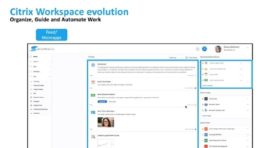 Citrix Workspace with micro apps
