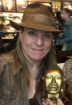 Kate Edwards as Indiana Jones.