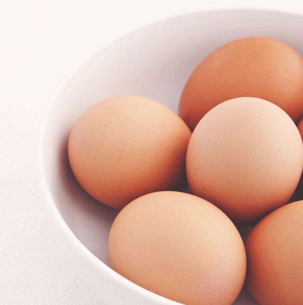 Eggs only contain a small amount of cholesterol and don't pose a risk to health