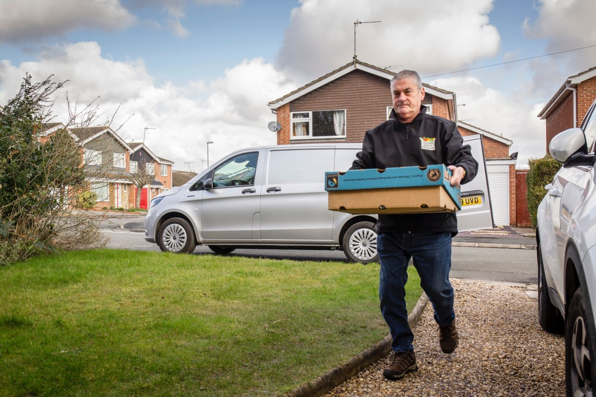 For around town delivery drivers doing 40-odd miles a day like Steve, the eVito is a great choice