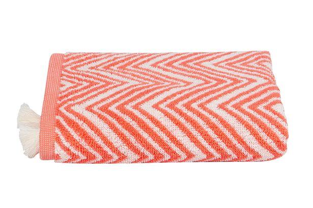 Orange zig zag hand towel