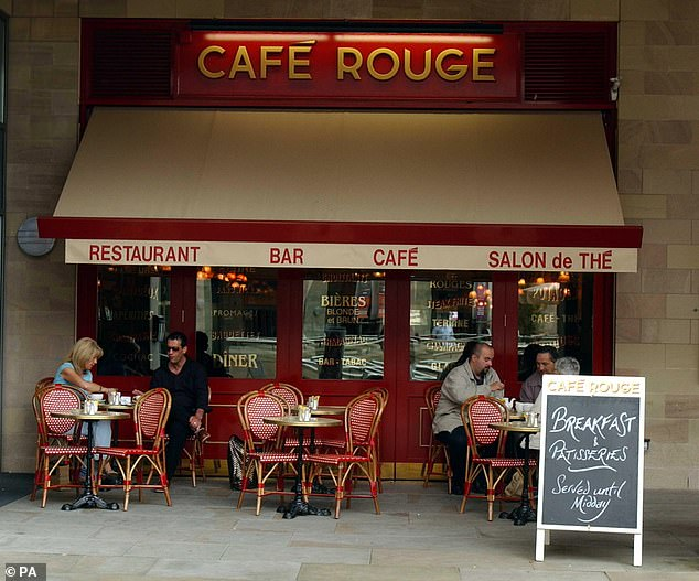 Struggling:Analysts said Casual Dining Group, which owns high street chains such as Bella Italia and Café Rouge, is also among the most vulnerable