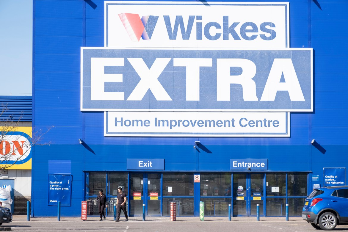 A closed Wickes store in east London earlier this week