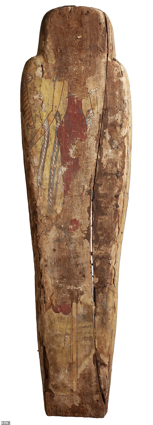 The underside of the coffin, which is slightly less well preserved, also shows a portrait of Amentet