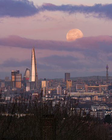 The supermoon will be visible on Tuesday evening and Wednesday morning (Getty Images)