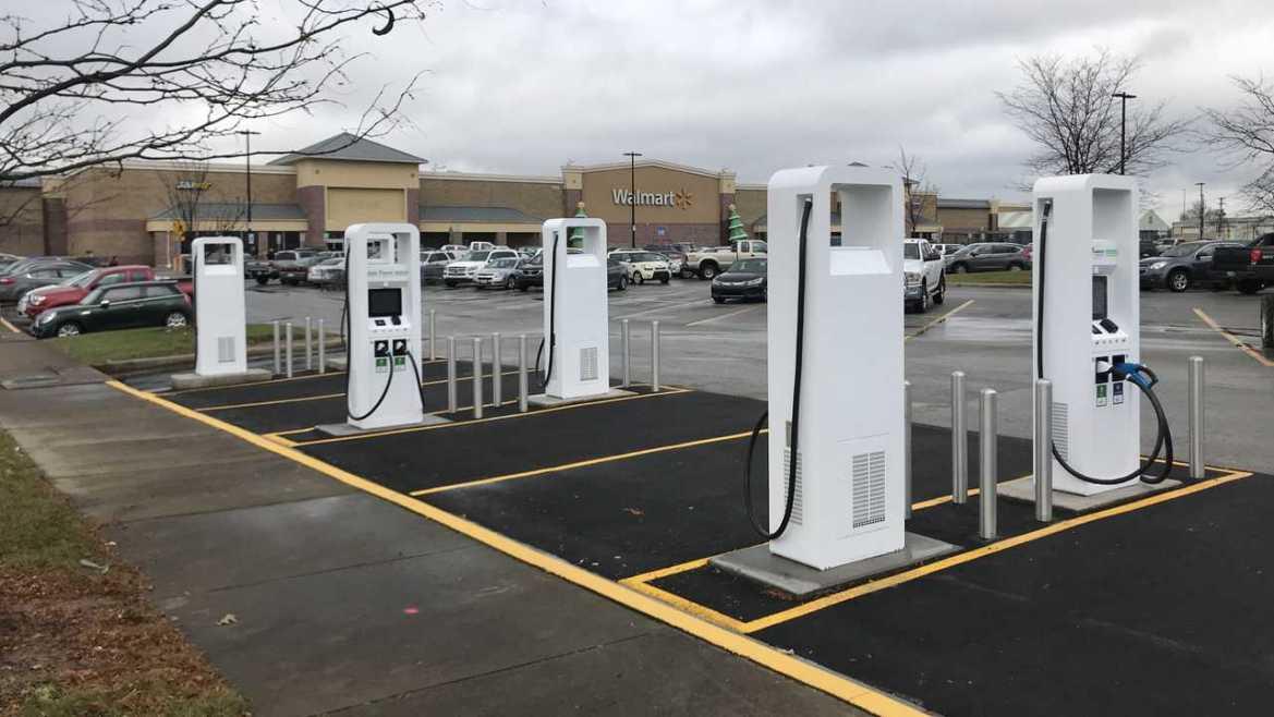 Electrify America charging station at Walmart
