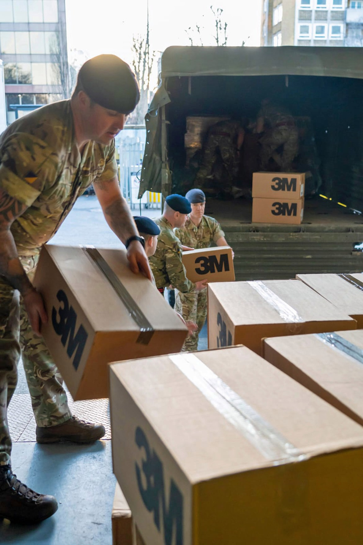 UK military personnel have stepped up to help the national effort