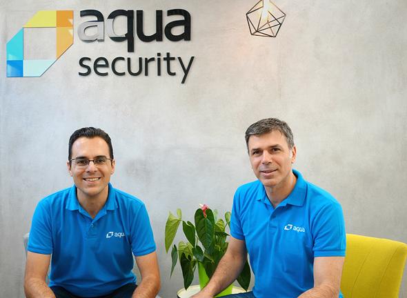 Aqua Security co-founders Amir Jerbi and David (Dror) Davidoff. Photo: PR