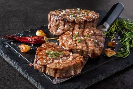 Grilled Fillet Steak with HerbsGrilled fillet steak with herbs and garlic