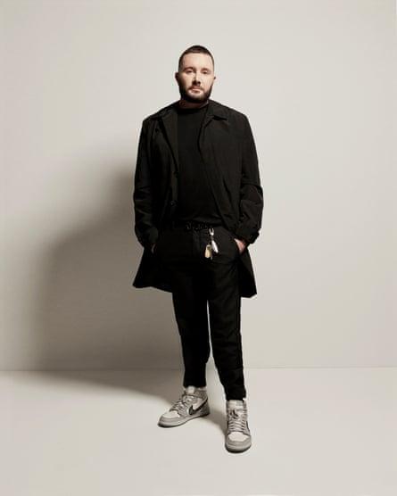 Dior's menswear designer, Kim Jones, in a pair of Air Diors